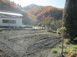 地続きの畑と周りの風景